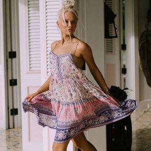 Spell Portobello Road Strappy Mini Dress